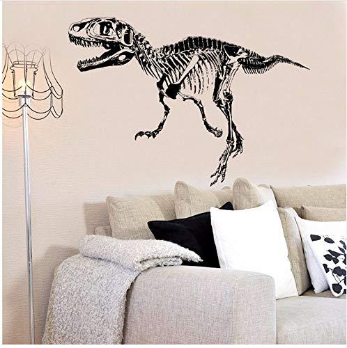 Zxfcczxf Schwarz Dinosaurier Fossil Silhouette Kunst Wandaufkleber Labor Jungen Zimmer Kinder Schlafzimmer Dekoration Kinder Aufkleber50 * 70 Cm