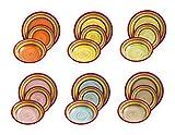 Villa d'Este Home Tivoli Vajilla 18 Piezas Sombrero Vintage Multicolor