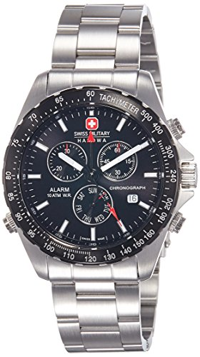 Swiss Military 6-5007.04.007 - Reloj de Caballero de Cuarzo, Correa de Acero Inoxidable Color Plata