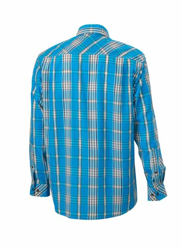 Men's UV-Protect Trekking Shirt Long-Sleeved azur/navy