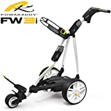 """""""NEW 2017"""" POWAKADDY FW3i WHITE ELECTRIC GOLF TROLLEY 18 HOLE LITHIUM BATTERY & CHARGER"""