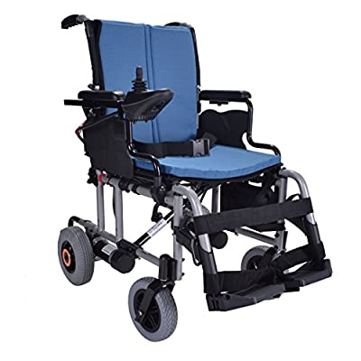 Breeze folding lightweight electric wheelchair powerchair - up to 10 miles range. Only 25kg inc lithium battery