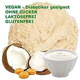 Joghurt Toffee Kokos Geschmack Eispulver VEGAN - OHNE ZUCKER - LAKTOSEFREI - GLUTENFREI - FETTARM, auch für Diabetiker Milcheis Softeispulver Speiseeispulver Gino Gelati (Joghurt Toffee...