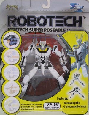 Robotech VF-1S Roy Fokker Veritech Super Poseable Action Figure by Toynami