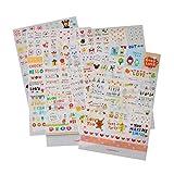 Pinzhi 6 Stück Nette DIY Wort Ausdruck Tagebuch Album Aufkleber Kalender Karte Scrapbooking