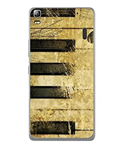 PrintVisa Designer Back Case Cover for Lenovo A7000 :: Lenovo A7000 Plus :: Lenovo K3 Note (Conceptual Instrument Classical Concept Scratches Designed Beautiful Textured)