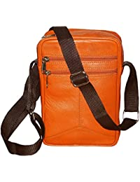 Style98 100% Genuine Leather Crossbody Sling Bag||Messenger Bag||Handbag||Hard Disk Bag||Shoulder Bag||Cash Bag... - B0722XHHXY