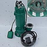 PROFI Fäkalienpumpe, Tauchpumpe, Schmutzwasserpumpe 18 m³/h Leistung 1500Watt Spannung: 230V/50Hz Fördermenge: 18000l/h = 300 l/min.mit Zerkleinerer + Schutzschalter.