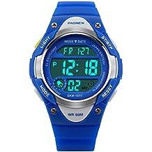 Hiwatch Reloj para Niños/Niñas Deportivos Impermeable 164 pies LED Digital a Prueba de Agua