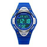Hiwatch Kids Sport Watch 164 Feet Waterproof LED Digital Watch for Boys Blue