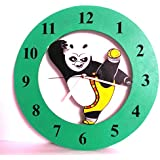 Art of East | Kung Fu Panda Kids Cartoon Wooden Wall Clock for Home