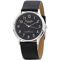 Eichmüller 3 Zeiger Herrenuhr Watch mit Lederband Schwarz, Kaliber Miyota 2035 Neu mit Uhrenbox