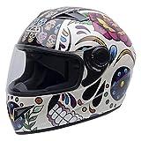 NZI Must II Graphics Casco De Moto(Mexican Skulls,Pequeña)