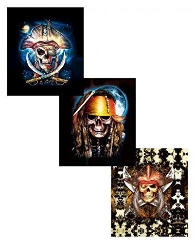 n Hologramm Wandbild mit wechselndem Piraten Motiv ()