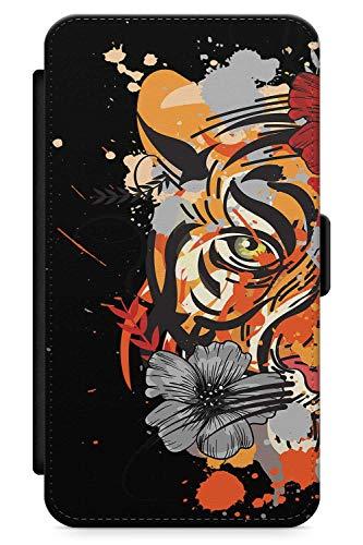Kostüm Tiger Tot - iPhone 5s, iPhone SE Case Zuckerschädel-Tiger | Kunstleder Brieftasche Flip Card Slot Cover Kickstand | Tag Der Toten Dia De Muertos Mexikaner Kunst Kostüm
