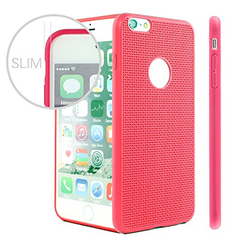 iPhone 6S Schutzhülle, iPhone 6 TPU Fall, fogeek Premium Slim Fit Flexible Maschen TPU Case Stoßfest Shell Displayschutzfolie für iPhone 6S/6, plastik, beige, iphone 6s/6 rot