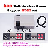 #10: Ocamo Classic Family Game Consoles Professional System For NES Game Player Built-in 600 TV Video Game With Dual Controllers