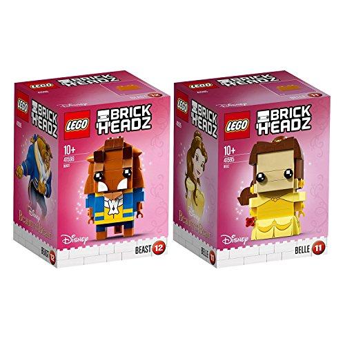 Lego Brickheadz 2er Set 41595 41596 Belle + Beast