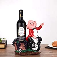 MXD Wine Rack European Creative Wine Rack Decoration Ornaments Fashion Resin Wine Bottle Rack Wine Cabinet Display Stand Red Clothes Coachman