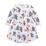 Lenfesh Baby Kinder Mädchen Langarm Kleid Kleinkind Prinzessin Party Print Tutu Kleid Mädchen Kleider Baby Kleidung Princess Weihnachten Outfits