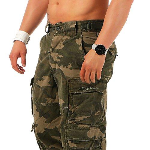 Jet Lag -  Pantaloni  - cargo - Uomo dark camouflage