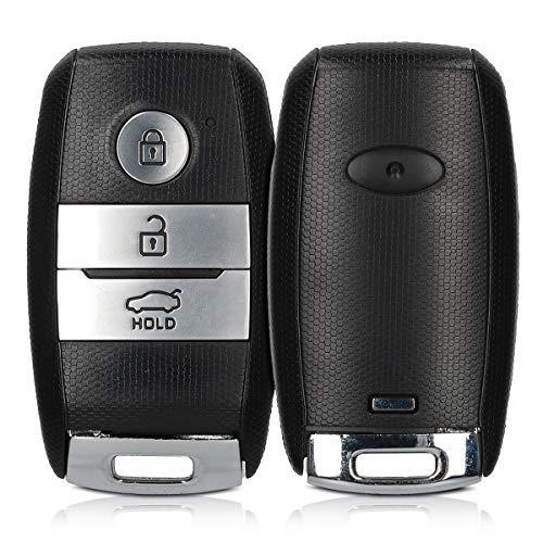 kwmobile Gehäuse für Kia Autoschlüssel - ohne Transponder Batterien Elektronik - Auto Schlüsselgehäuse für Kia 3-Tasten Smartkey Autoschlüssel