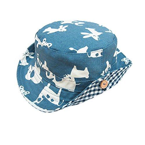 Fischerhut Baumwolle Hut Jungen Baby-Jungen Baby Hut Bedrucktes Sommer Sonnenhut,L