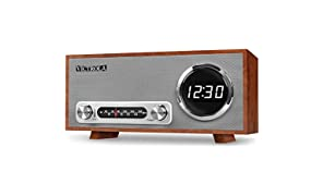 Victrola Broadway Bluetooth Clock Radio with Digital Display - Mahogany