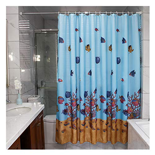 MYQIANG Flamingo Shower Curtain Mould Proof Water Resistant Thick Fabric Palm