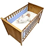 Safe Dreams 2 Sided Cot Wrap with 100% cotton surface (Blue)