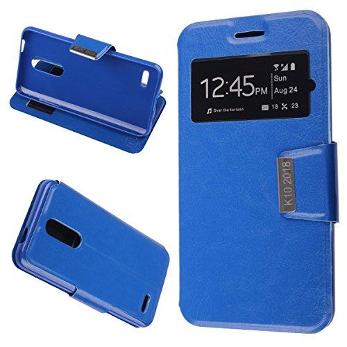MISEMIYA - LG K11 / LG K10 2018 Hüllen Taschen - Hüllen, Cover View Unterstützung, blau