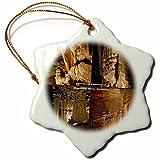 Pansy Divertente Natale Fiocco di Neve Ornamenti Flowstone Collage di Mammoth Cave National Park Kentucky Vacanza Albero di Natale, Ornamenti Decorazioni Regali