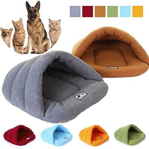 Simu EU Sleep Zone Kuschelhöhle Haustierbett, Haustierzelt Wurfbett, gemütliches Dreieck Bett für Katzen und kleine mittelgroße Hunde