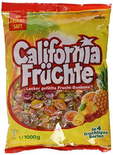 Storck California Früchte – Fruchtige Lutschbonbons mit Fruchtsaftfüllung in verschiedenen Geschmacksrichtungen wie Ananas & Grapefruit – 5 x 1 kg Beutel