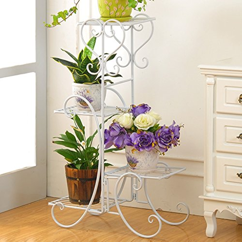 WSSF- Supports de pots Européenne Fleur de fer Rack multicouche Fleur Pot Étagère Salon Balcon Intérieure et Extérieure Vert Plantes Hang Orchidée Charnue Fleur Présentoir (Couleur : #2)