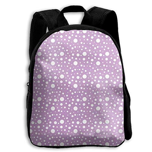 ADGBag Purple White Spots Children's Backpack Kids School Bag with Adjustable Shoulders Ergonomic Back Pad Perfect for School Security Sporting Events Kinderrucksack Rucksack