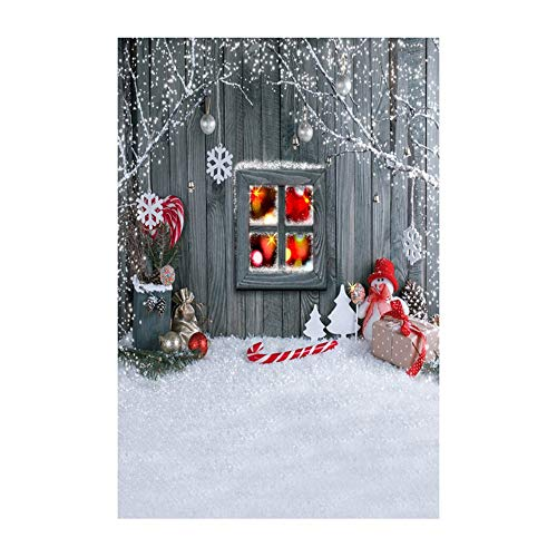 LILICAT_Bekleidung Weihnachten Backdrops Schneemann Vinyl 3x5FT Laterne Hintergrund Fotografie Studio