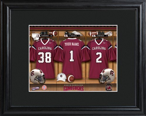 college-with-wood-frame-south-carolina-gamecocks-football-locker-room-print