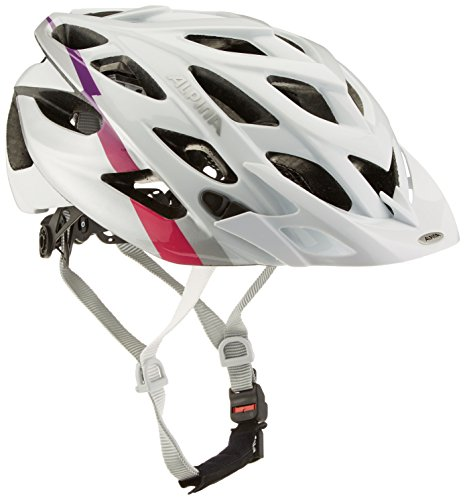 Alpina D-Alto Fahrradhelm, White/Silver/Pink, 52-57 cm (White Alpine Helm)