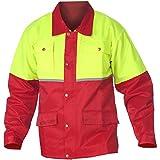 WOODSafe Forstjacke Rot/Gelb - Arbeitsjacke für die Forst mit Rückenbelüftung (54-56) Vergleich