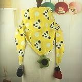 Niños Bufandas Niños Triángulo Bufandas Chicos Y Chicas de Moda Todos Coinciden Collar Collar Caliente Pequeña Bufanda , panda y amarillo