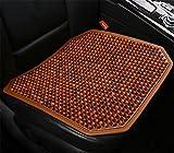 DIELIAN Holzkugel-Sitzauflage, Natürliche Holzperlen Cover Pad Autositz Comfy Cool Sommer Massage Sitzkissen,C