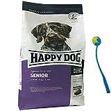 Happy Dog 12,5 kg Supreme Fit & Well Senior Hundefutter Premium + Ballschleuder