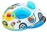 EOZY Baby Schwimmsitz Aufblasbarer Schwimmring Float Sitzring Blau Auto für 0-5 Jahre