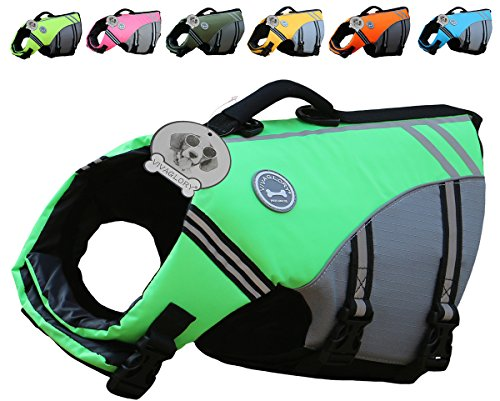 VIVAGLORY New Sports Style Ripstop Dog Life Jacket with Superior Buoyancy & Rescue Handle 1