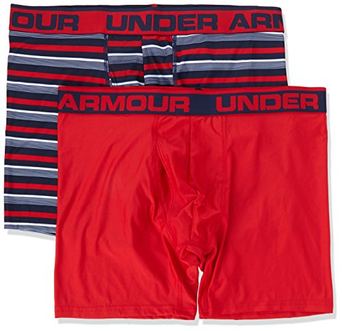 Under Armour Original 6in 2 Pack Novlty, Boxer Uomo Blu