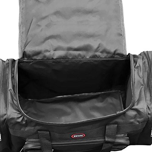 Liying Reisetasche Händgepäck Sporttasche Tasche Luggage Bag Reisekoffer Handtasche 65 x 35 x 30 cm,aus Oxford Gewebe für Reise am Wochenende Urlaub Schwarz