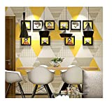 JDUNR Wallpaper Graue Geometrische Muster-Wohnzimmer-Tapeten-Modernes Schlafzimmer Fernsehhintergrund-Wand-Papierrolle, A