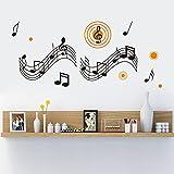 Asenart Musik Note Wandtattoo Abnehmbare Vinyl Wandtattoo Aufkleber für Wohnzimmer Schlafzimmer Größe 78,7x 142,2cm