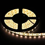 Allbuymall Striscia LED Impermeabile IP65 5M dei 300 LEDs 5050 SMD LED Strip DC 12V, Bianco Caldo